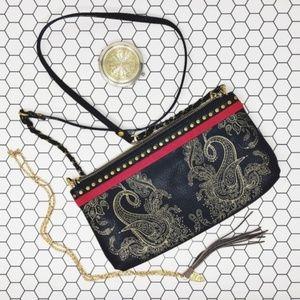 Elliott Lucca Artisan Demi Paisley Print Purse Bag